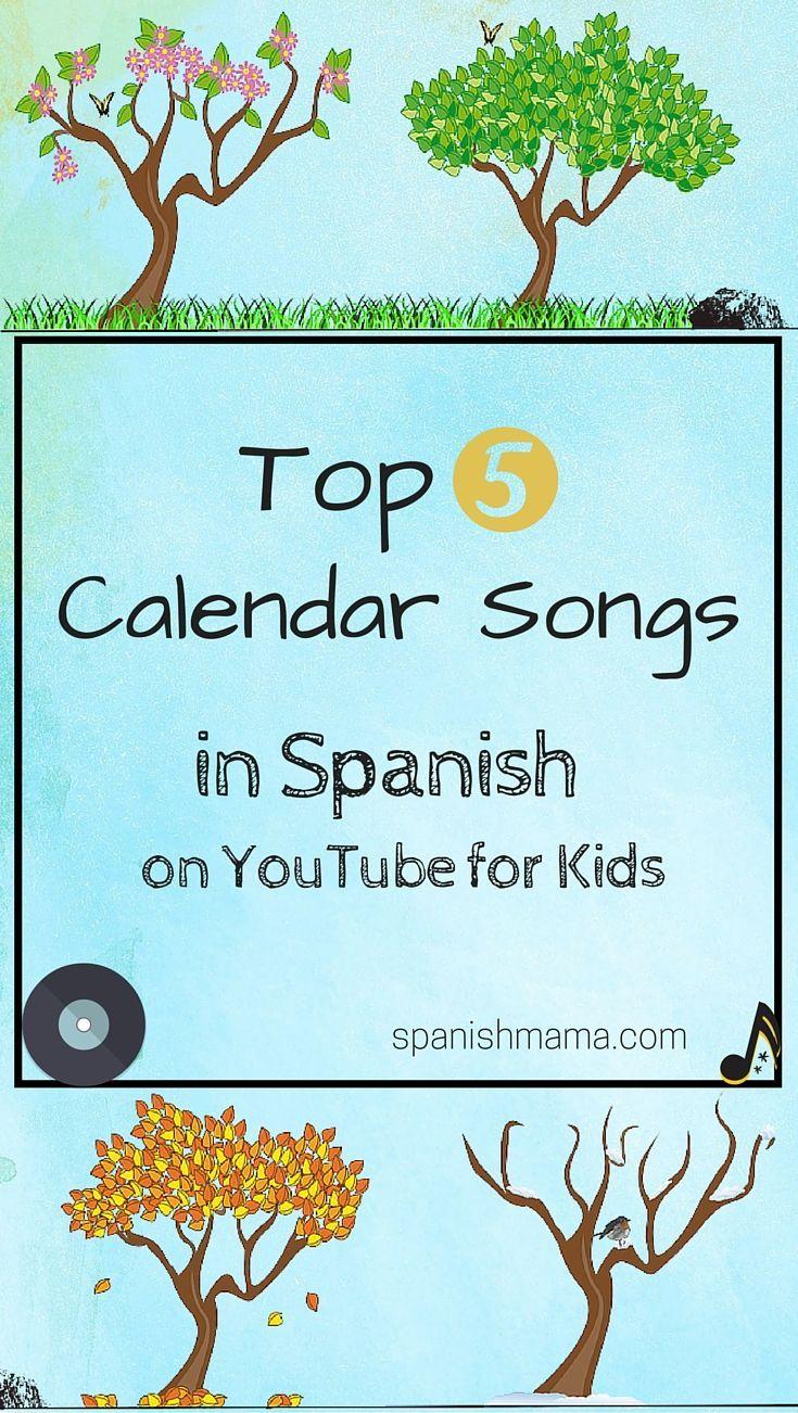 Home Teaching spanish, Elementary spanish, Calendar songs