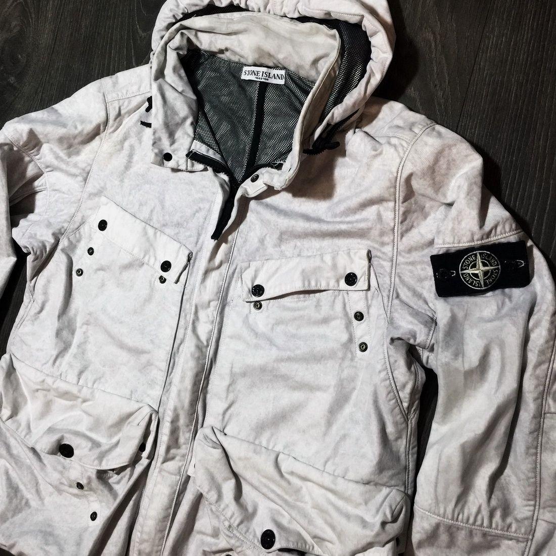 973e4f0cb Stone Island STONE ISLAND White Tyvek Jacket XL size L Coat RARE ITALY  EXTRA RARE 54