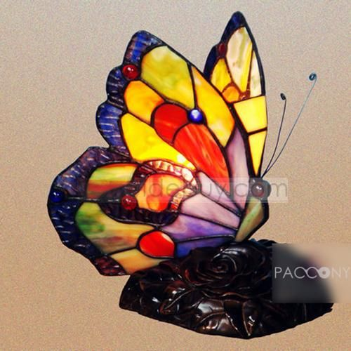 Tiffany Style Butterfly Shape Decoration Table Lamps
