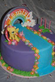 Backen mit einer Prise Liebe: My little Pony Birthday Cake - Kindergeburtstagstorte