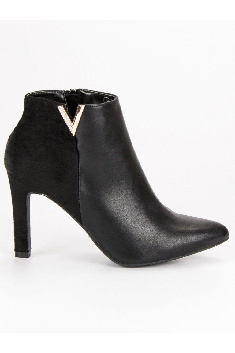 fb895deadc8a Čierne topánky na podpätku Vinceza
