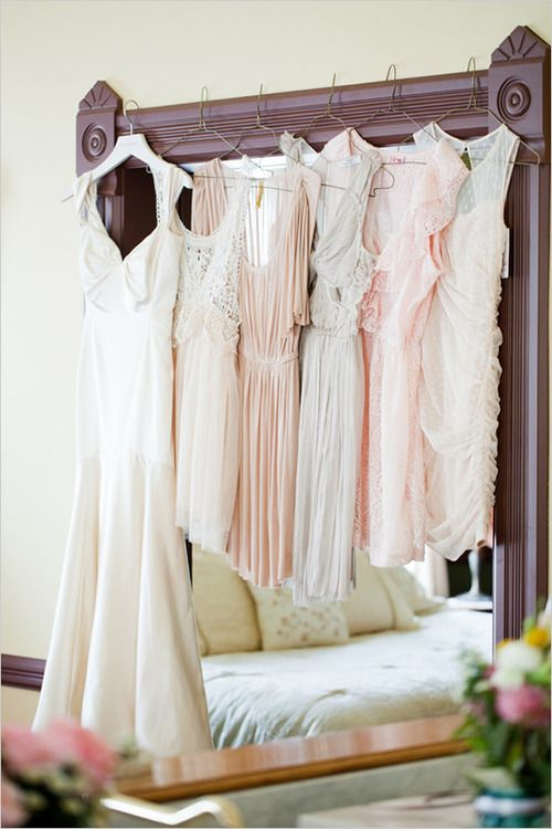 wedding day picture of the dresses!