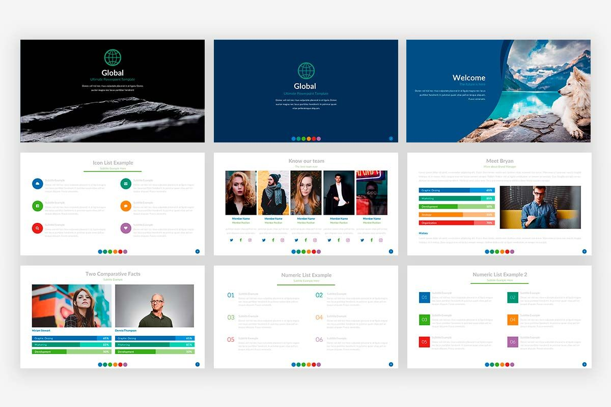 global presentation powerpoint template website templates