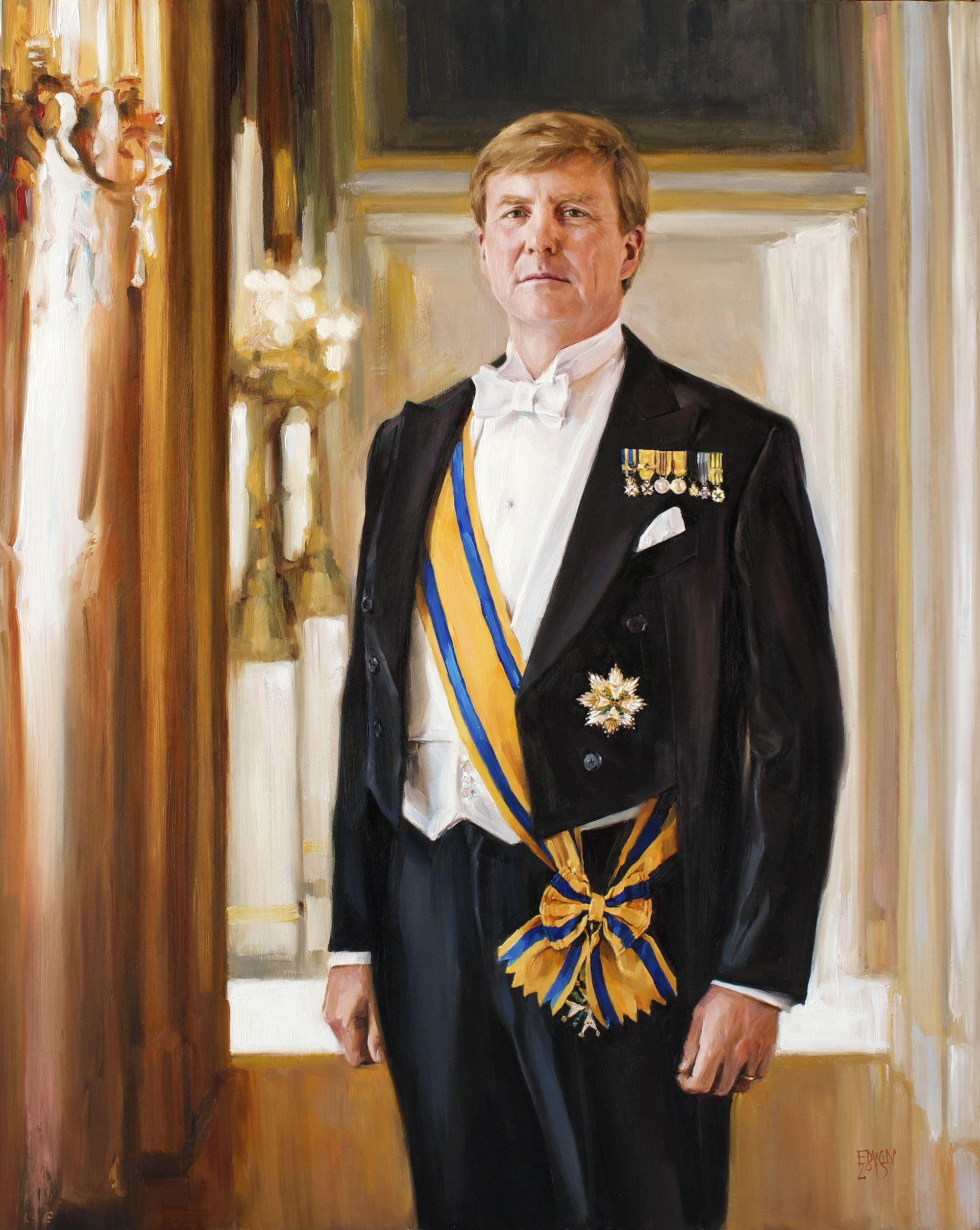 Staatsieportret koning willem alexander olieverf op for Alexander holland