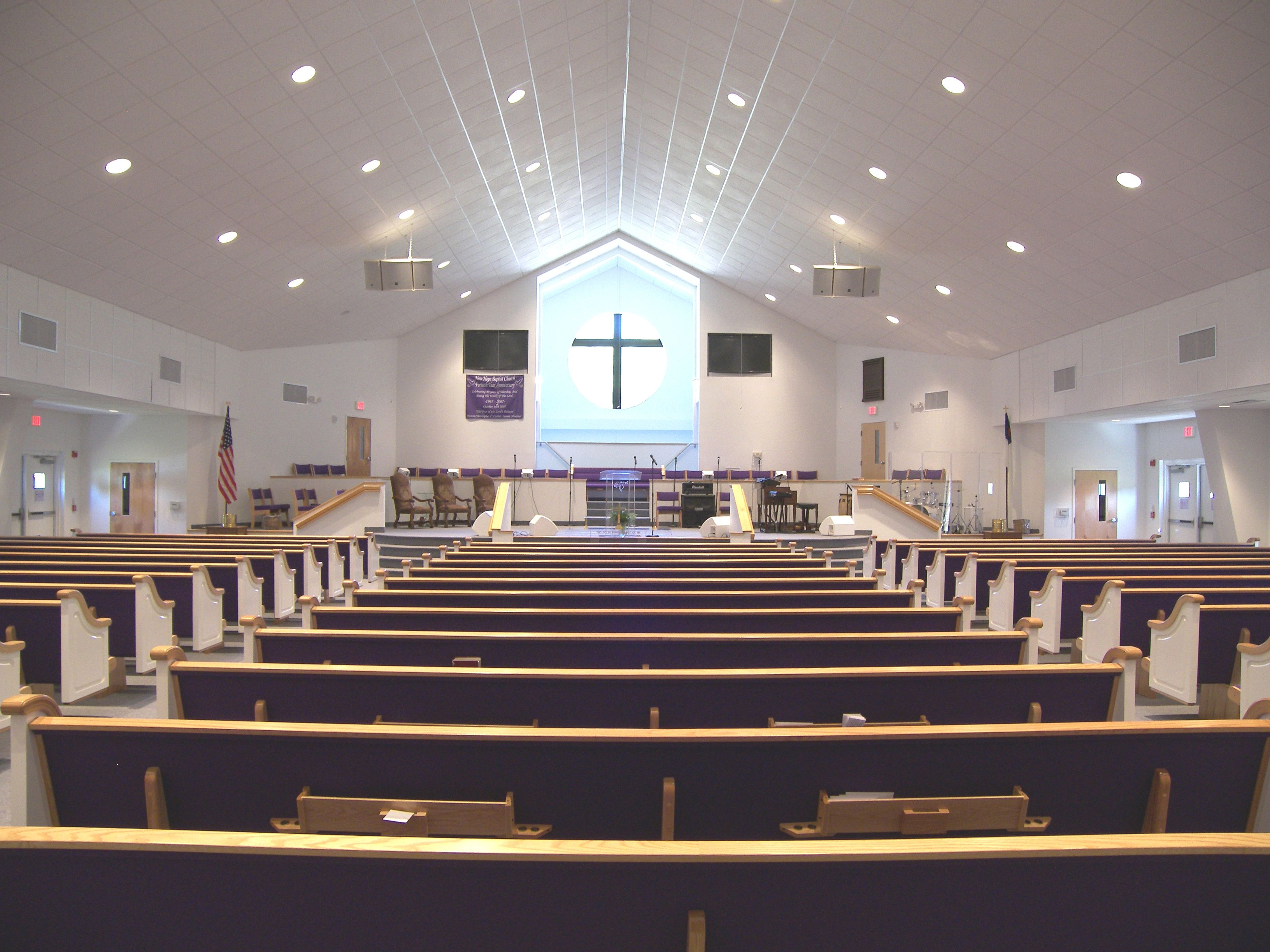 New Hope Baptist Church interior