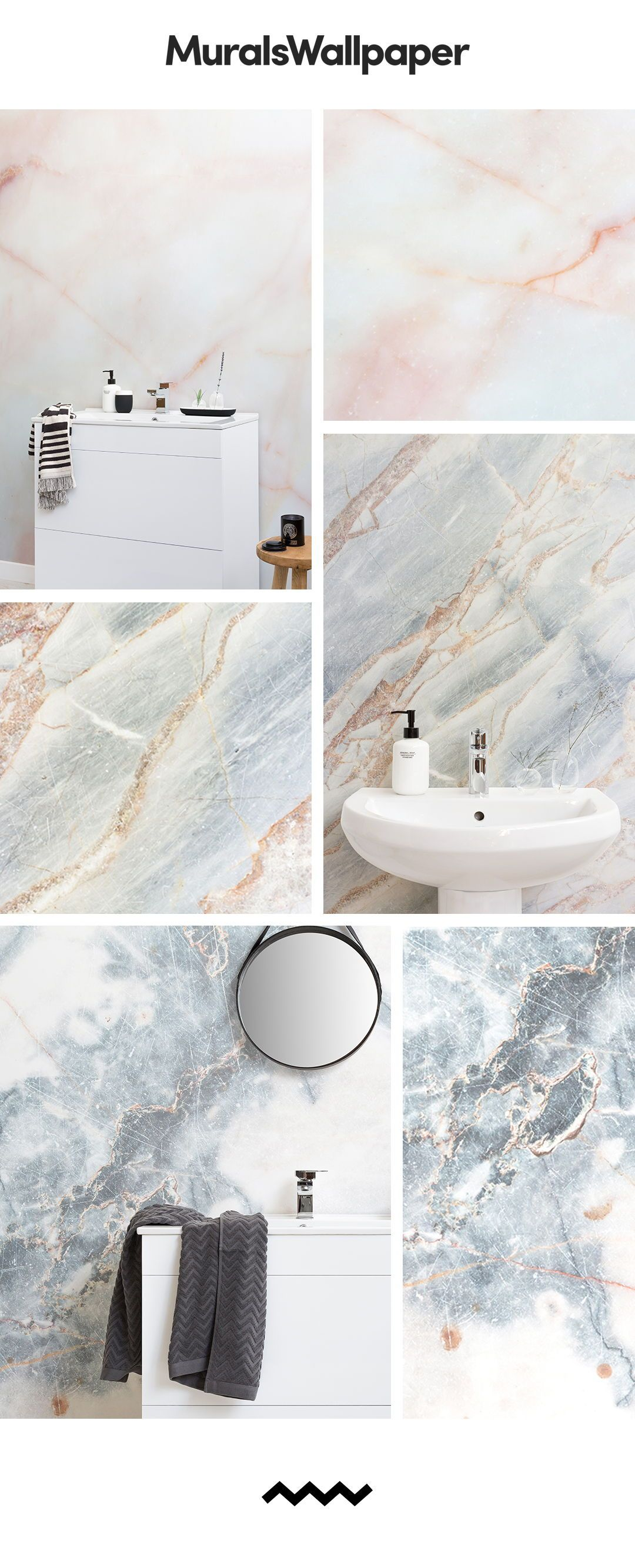 Create A Classy And Sophisticated Bathroom Space With Marble Effect Wallpapers Featuring Amazi Marble Wallpaper Marble Effect Wallpaper Sophisticated Bathroom