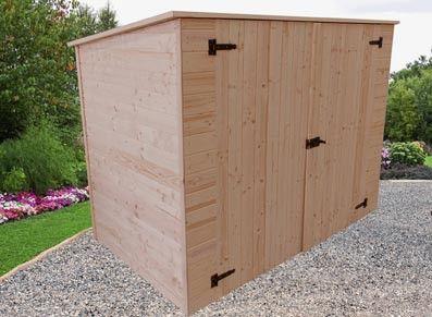 Abri En Bois Pour Velos Ou Motos 2 20 X 1 25 M Abri De Jardin Abri De Jardin Bois Mobilier Jardin