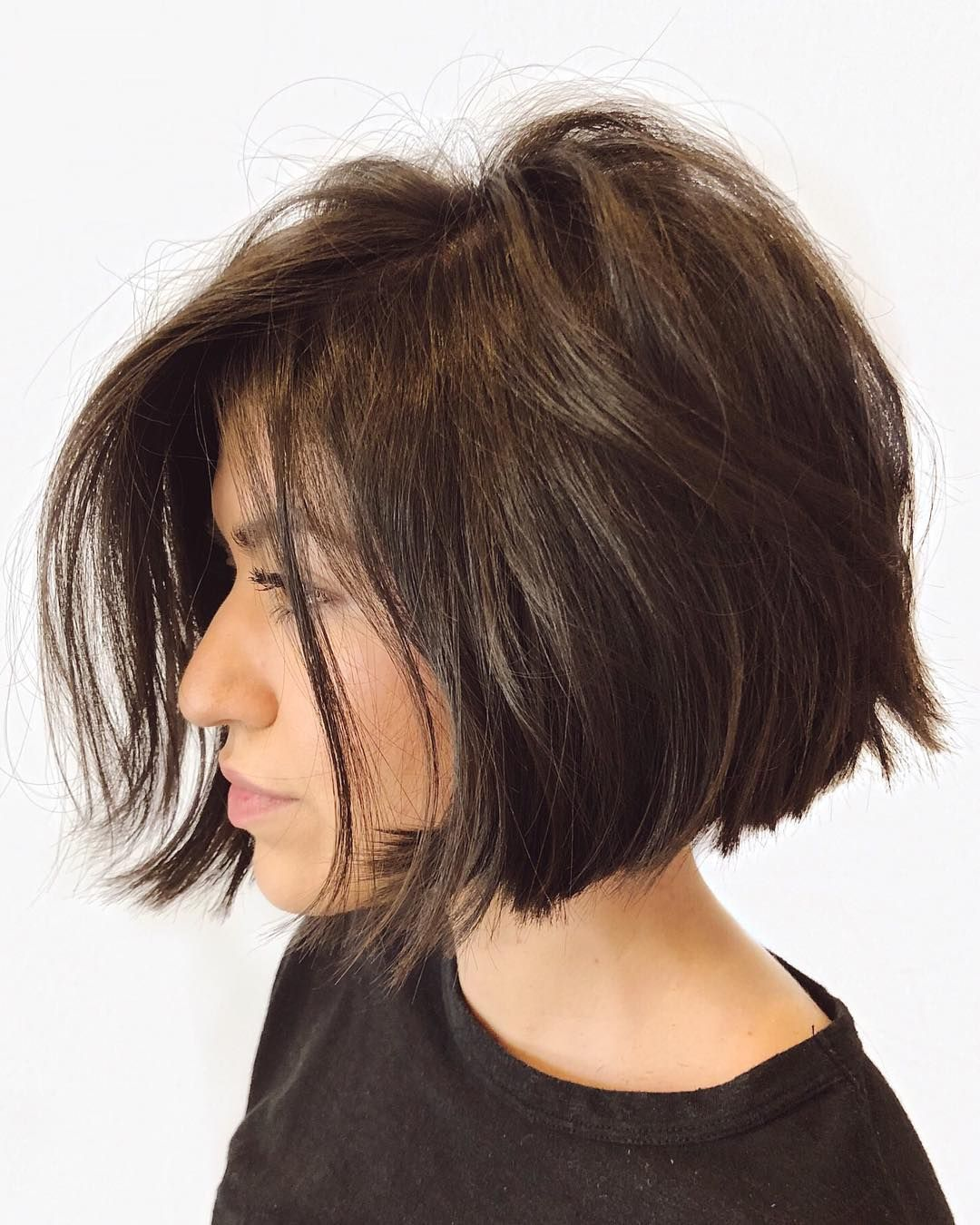 Fresh Bob For Alexusestellehair Back Was Undercut To Remove Bulk Allowing The Hair To Lay Better And R Hair Styles Short Hair Trends Haircut For Thick Hair