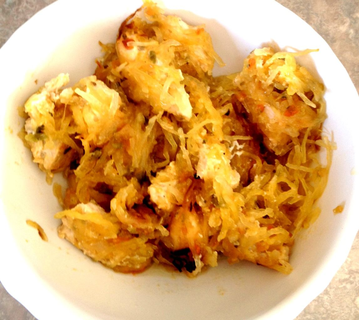 Crock Pot Chicken Squash with home made 'Squash Sauce'