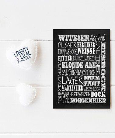 Another great find on #zulily! Black 'Craft Beers' Print #zulilyfinds