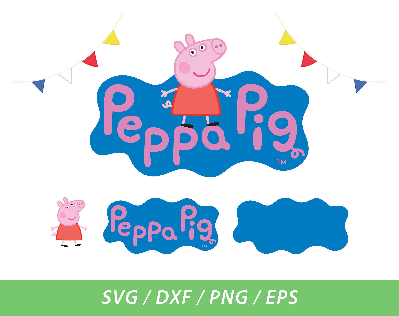 Peppa Pig Logo Svg Dxf Png Eps Instant Download By Studiio On Etsy Pig Logo Eps Png