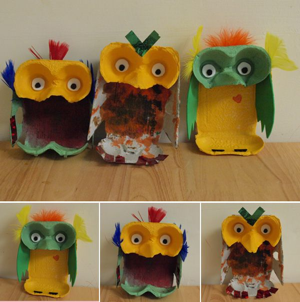 Egg Box Owls I Need To Do This With Images Egg Box Craft Egg