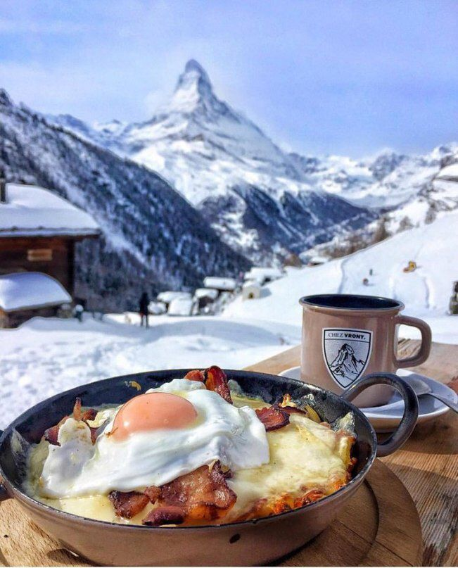 Доброе утро в горах открытка