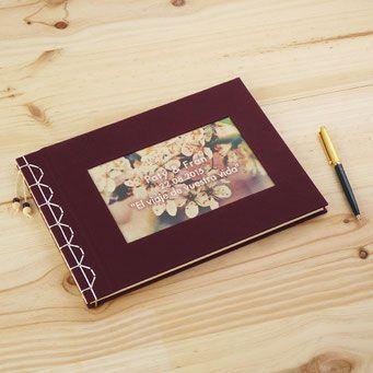 Libro de firmas artesanal con costura japonesa  Encuadernacin