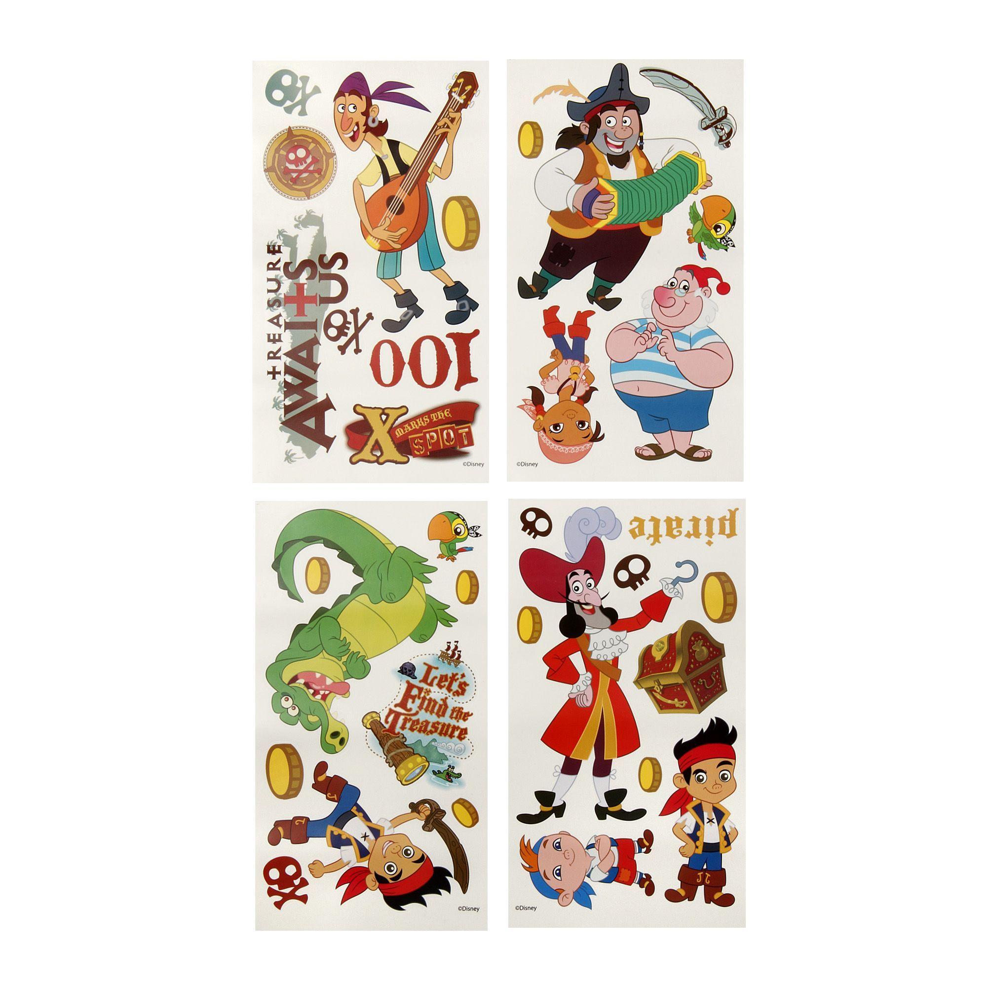 Stickers Repositionnables Pour Enfants Theme Jack Et Les Pirates