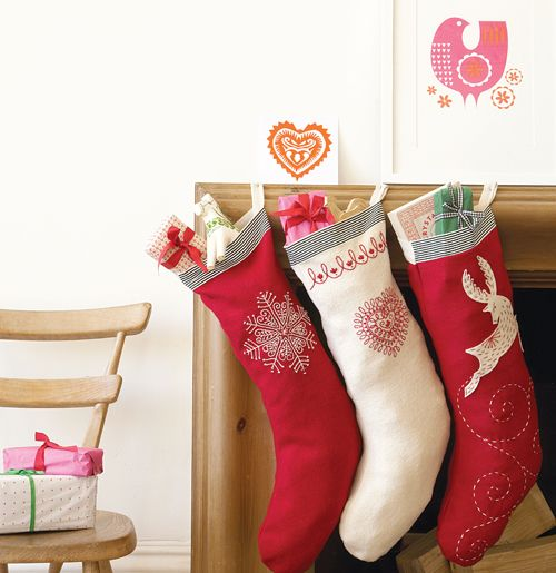 Scandinavian Christmas Modern World Furnishing Designer Embroidered Christmas Stockings Christmas Stockings Scandinavian Christmas
