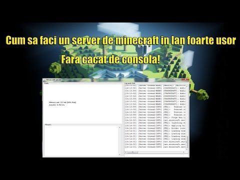 Minecraft Lan Server Tutorial FOARTE USOR SA FACI UN - Minecraft server erstellen 1 8 cracked