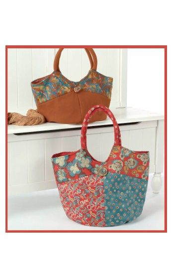 Bella Bag – IJ792 sewing pattern from IndygoJunction.com - features needle felting details on one version
