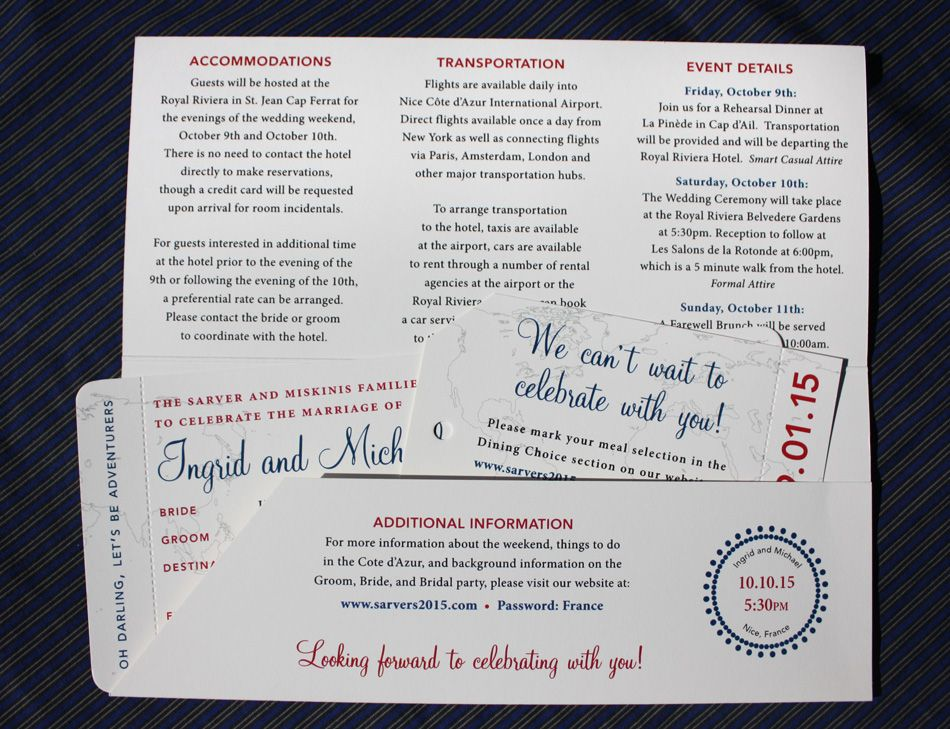 wedding invitations map%0A Blue  u     Red Vintage Air Mail  u     World Map Boarding Pass Wedding Invitations