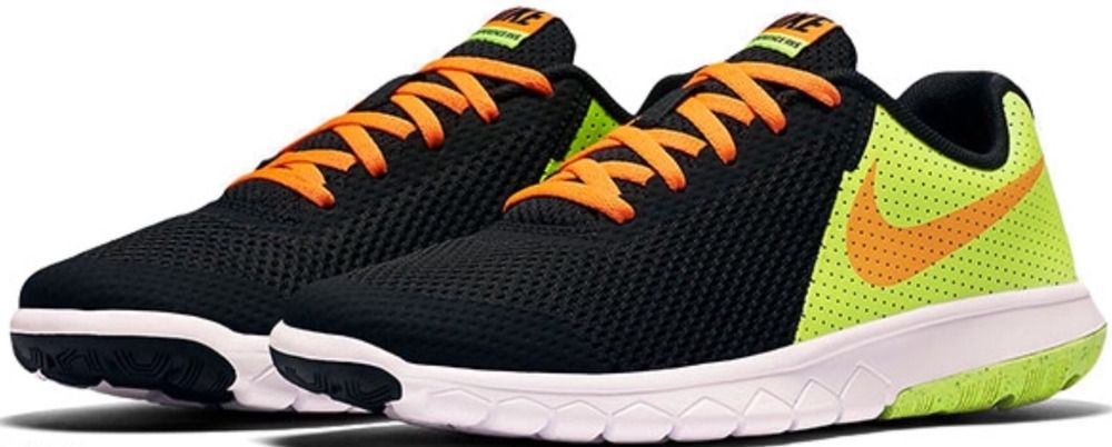 3b49b6b9a894 Nike FLEX EXPERIENCE 5 (GS) 844995 002 Shoes Black Orange Volt Size 7Y  NIKE   Athletic