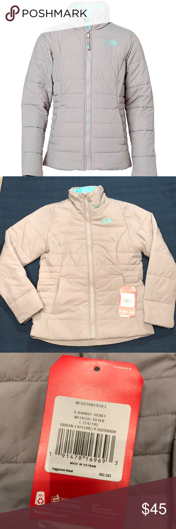 ac5209a64 The North Face Girl HarWay Insulated Jacket Large Youth large 14/16 ...