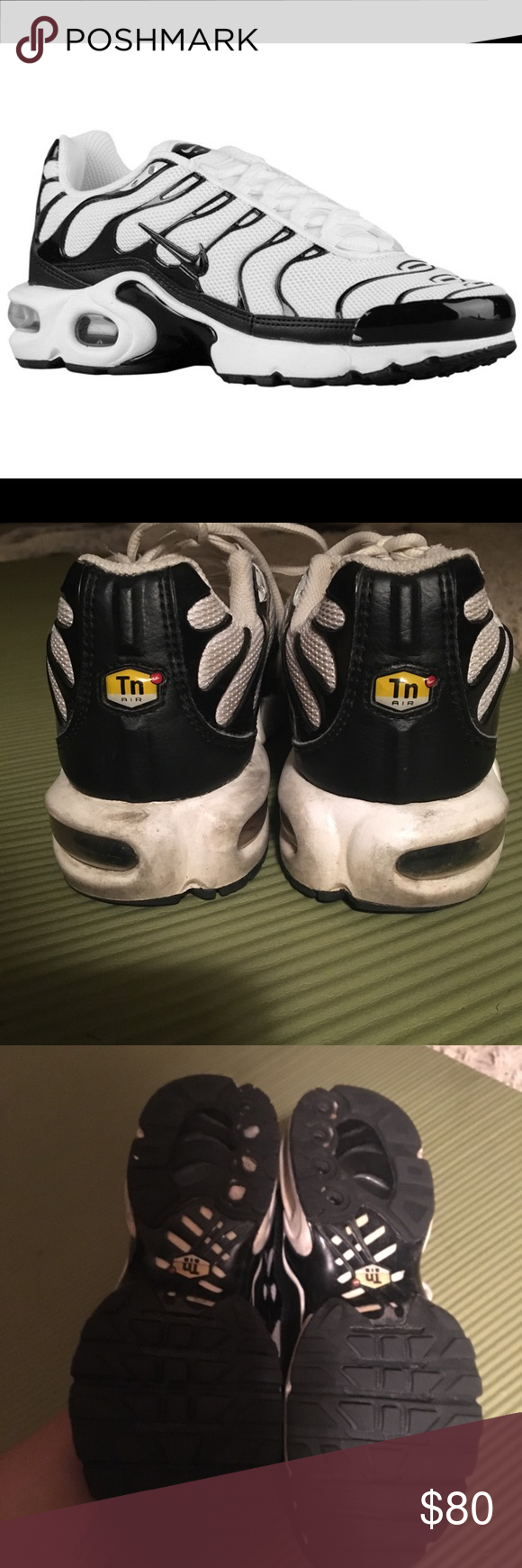 61eb7d909 RARE black and white Nike air max tn sneakers Deadstock color scheme nike  tns. Retail  180. Worn and has small defects. Little dirty but it can be  washed.