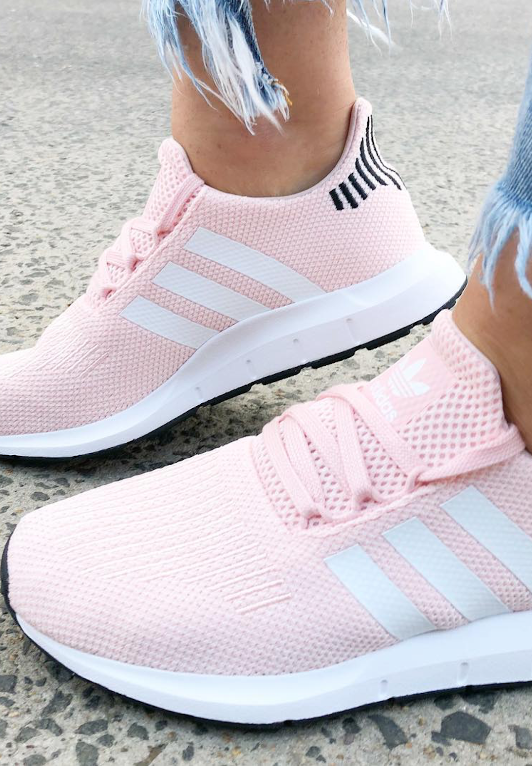 sale retailer 9c5a7 9b5ba adidas Swift Run Sneakers in Icy Pink. Seriously stylish shoes 2018.