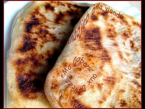 Mahjouba mhadjeb algerian pancake stuffed with meat for Algerian cuisine youtube