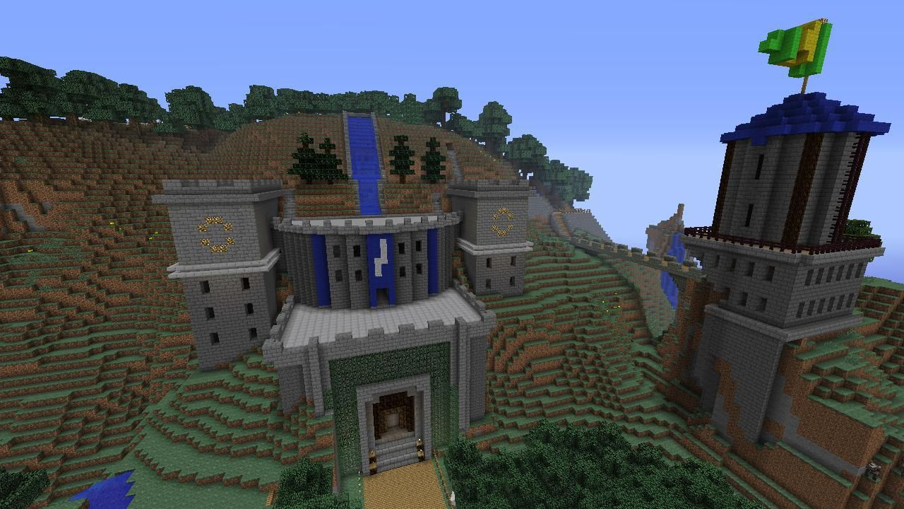 minecraft mountain fortress - Google Search | Build it ...