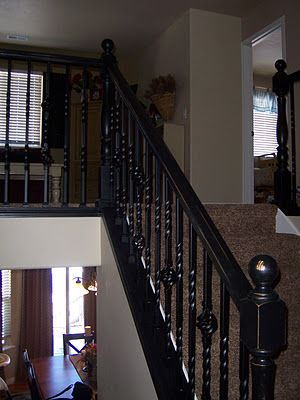 Best Distressed Stair Rails In Black Updating House Building 400 x 300