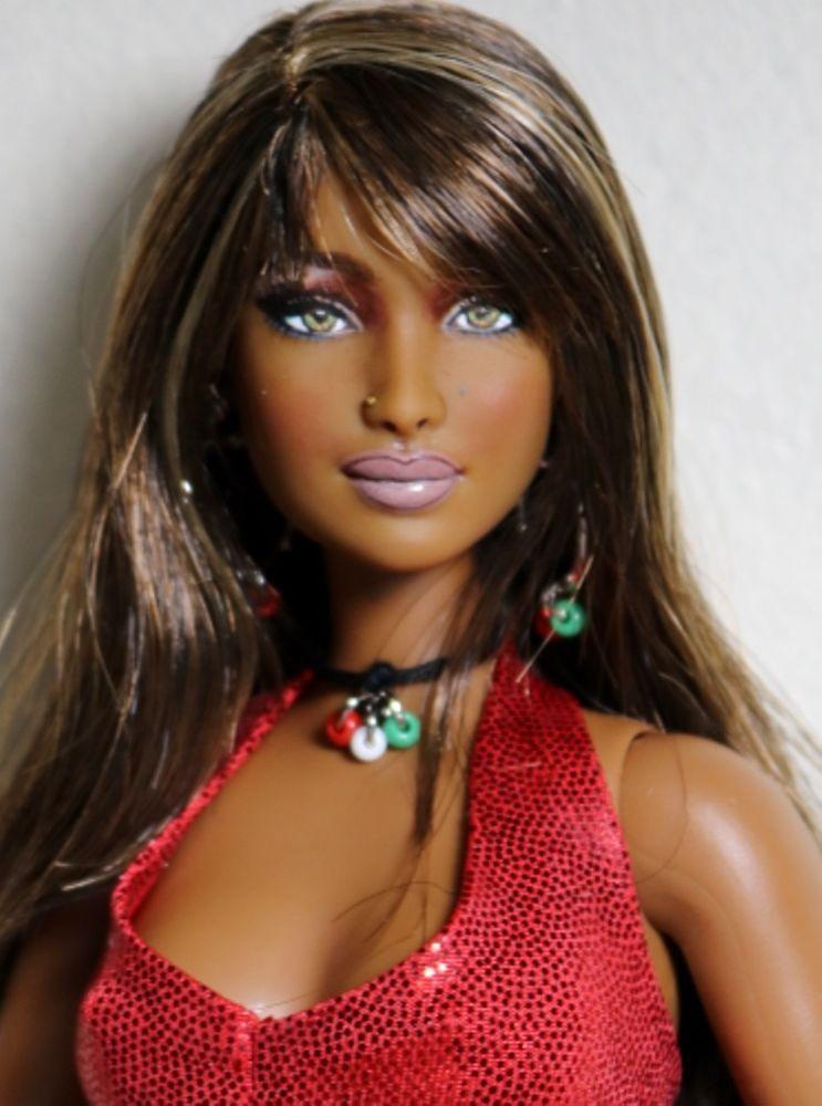 Barbie ken repaint ooak doll articulated curvy aa barbie basics ...