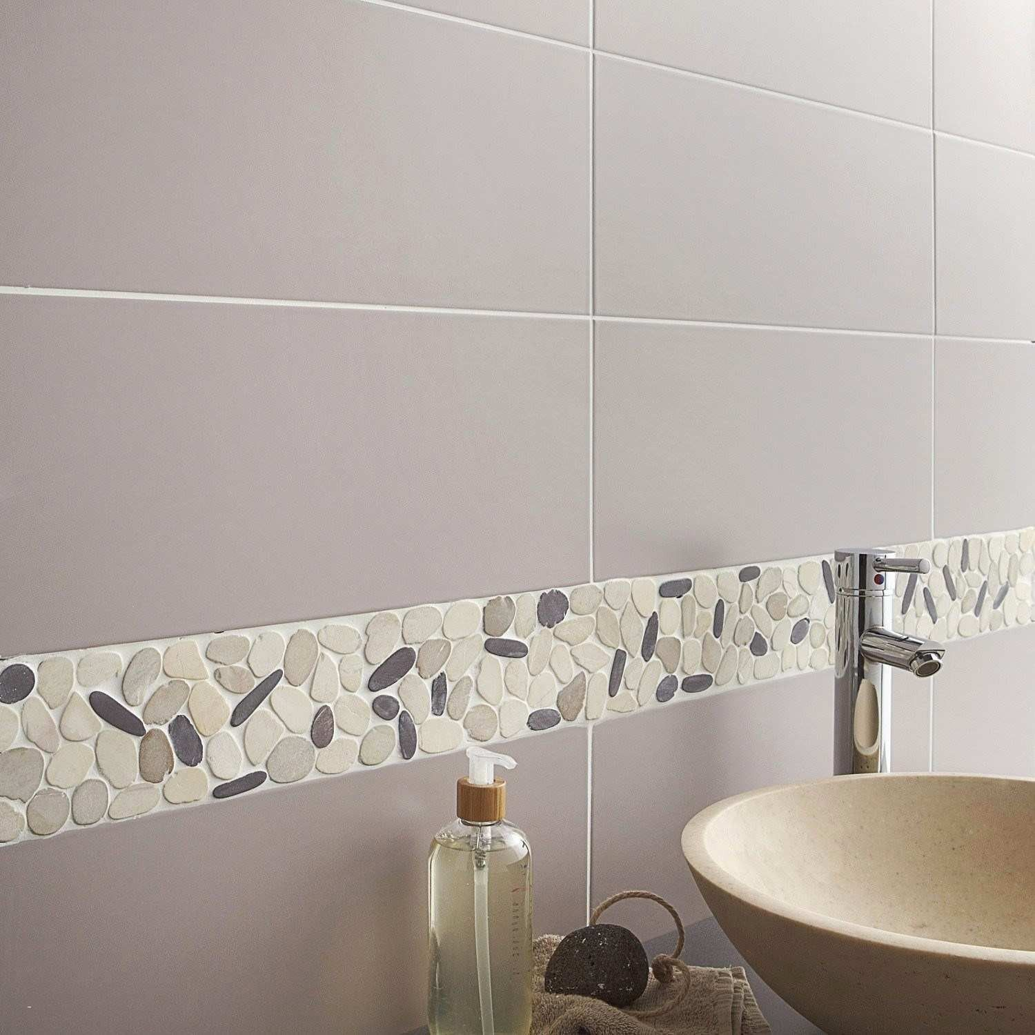 Lovely Refaire Joint Carrelage Salle De Bain Stone Mosaic Bathroom Small Bathroom Remodel Rustic Bathrooms