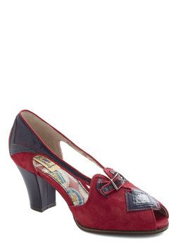 Stop Sign and Look Heel, #ModCloth