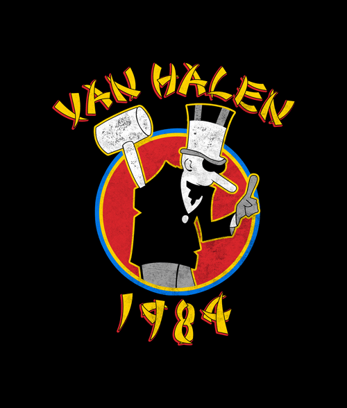 VAN HALEN Tour Of World 1984 T SHIRT S-M-L-XL-2XL Brand New Official T Shirt