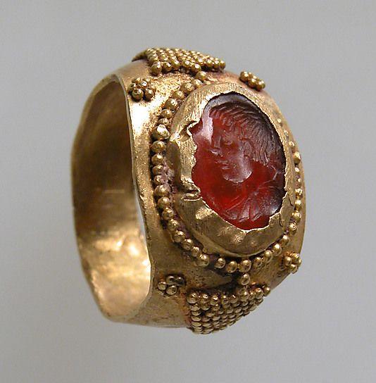 Gold  Carnelian Finger Ring  --  6th-7th Century  --  Frankish  --  Metropolitan Museum of Art