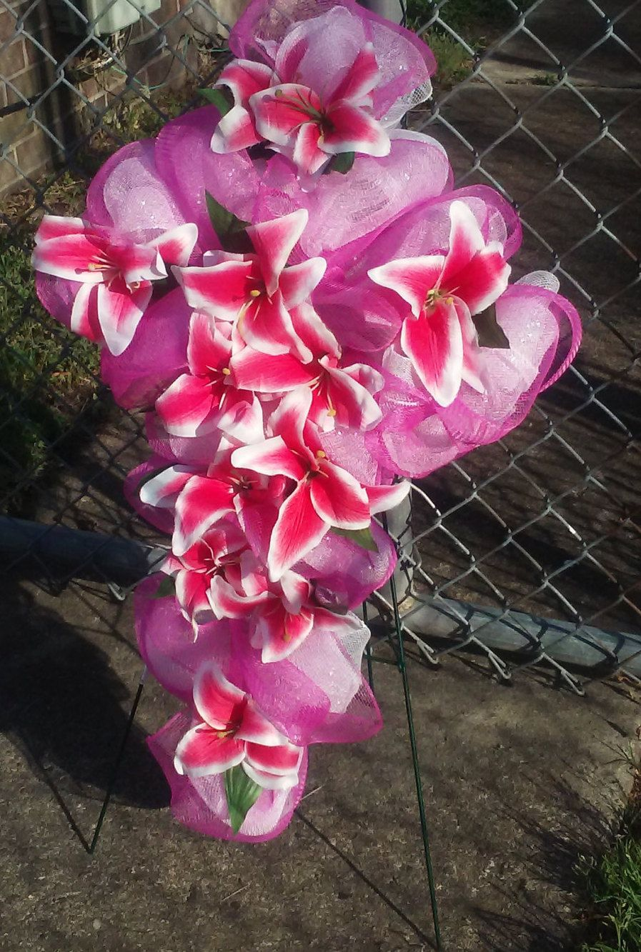 Mother S Day Cross Wreath Graveside Cemetery Funeral Home