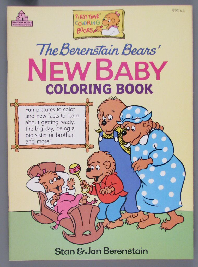 109.9076: The Berenstains Bears\' New Baby   coloring book ...
