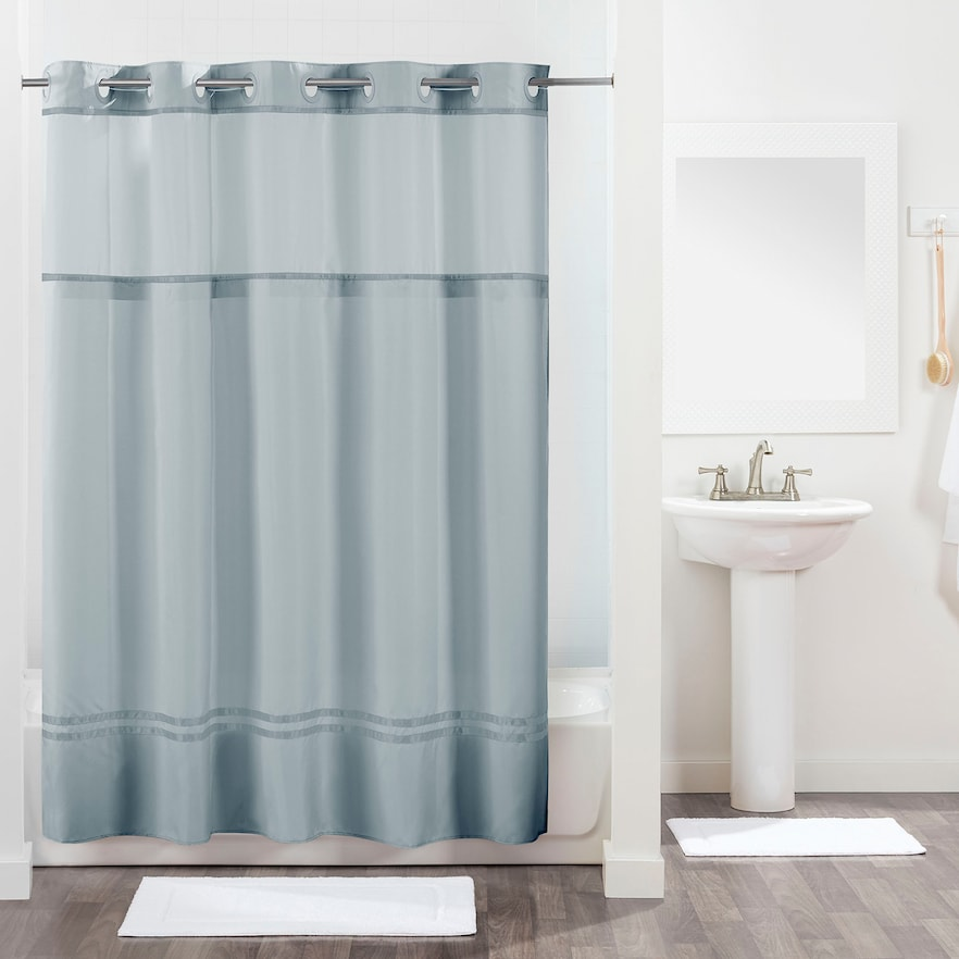Hookless Monterey Shower Curtain And Liner Fabric Shower