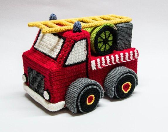 Anleitung Für Ein Gehäkeltes Feuerwehrauto Deutsche Häkelanleitung