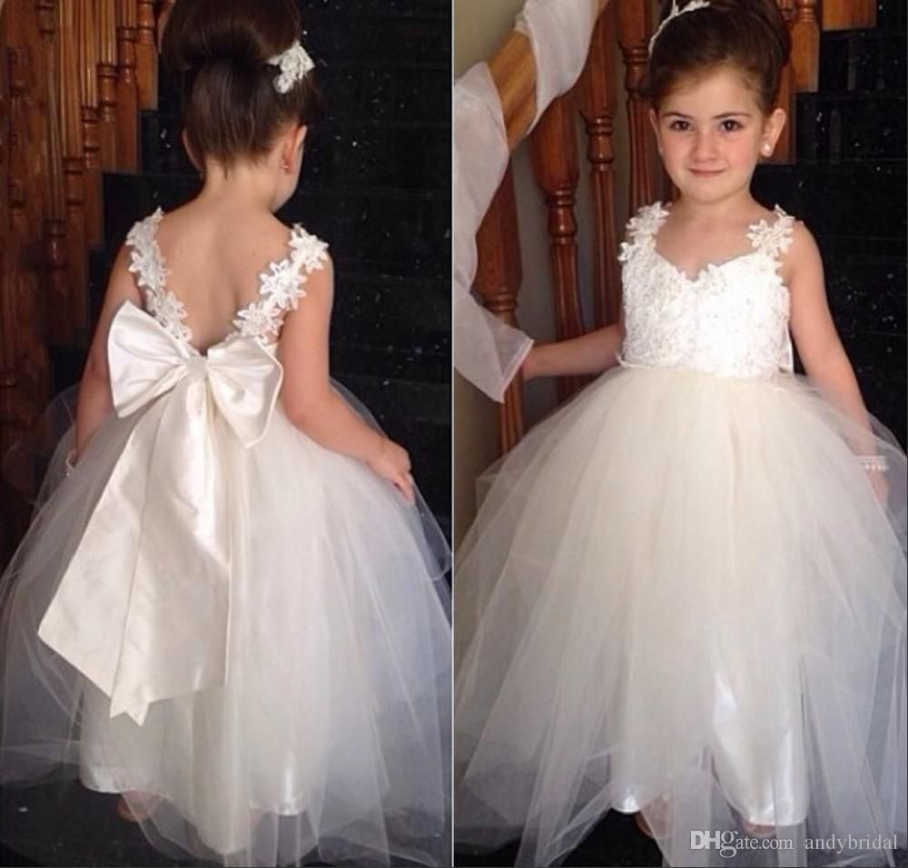 2015 Flower Girls Dresses With Straps Sweetheart Wedding Bridal