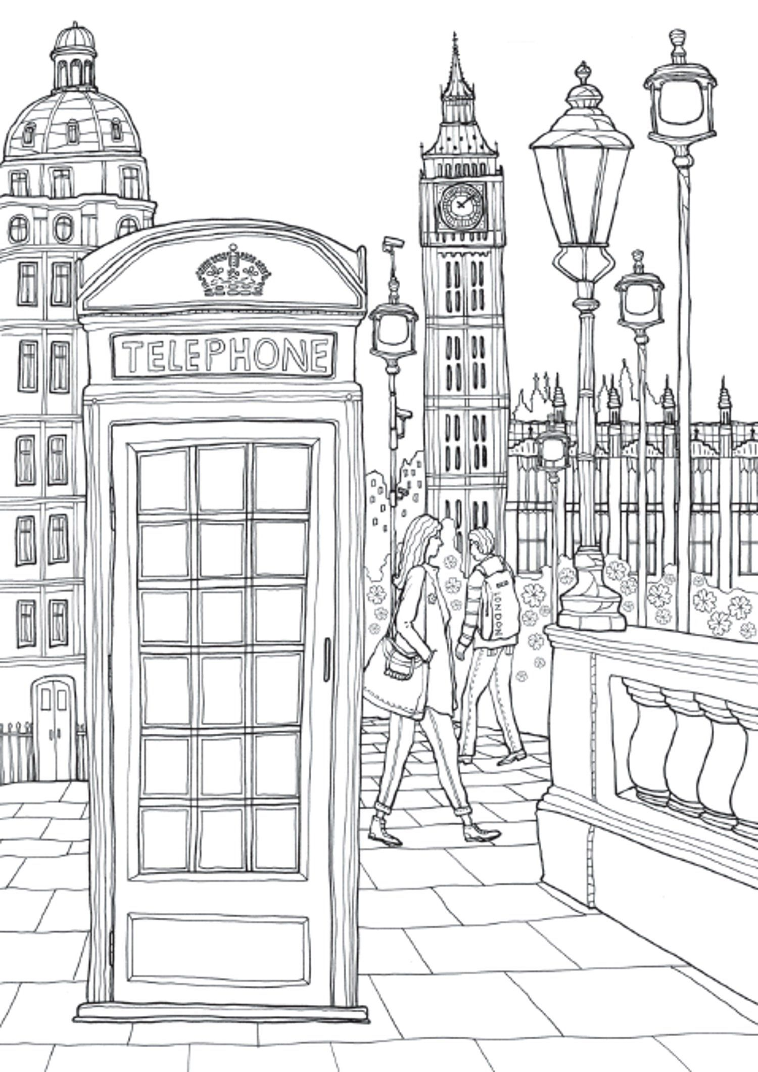 Coloring Europe Charming London Il Sun Lee