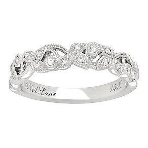 Neil Lane 14ct White Gold 0.21ct Diamond Vine Wedding Ring http://www.weddingheart.co.uk/ernest-jones---engagement-ring.html