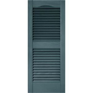 Louvered Vinyl Exterior Shutters Pair In #030 Paintable 010140036030 At The  Home Depot   Mobile