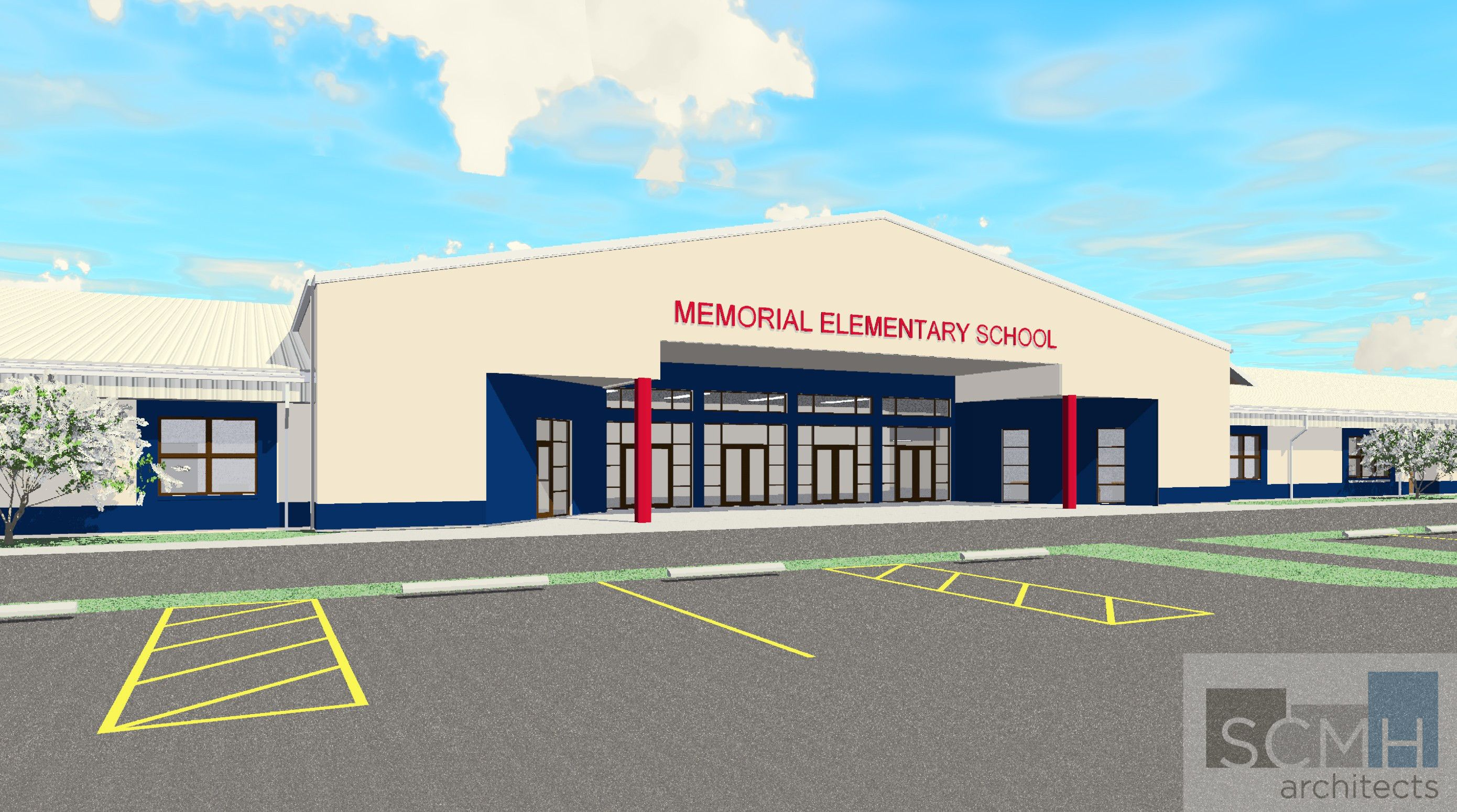 Memorial Elementary, Sebring, FL    Rendering Of New Facility Designed By  SCMH Architects
