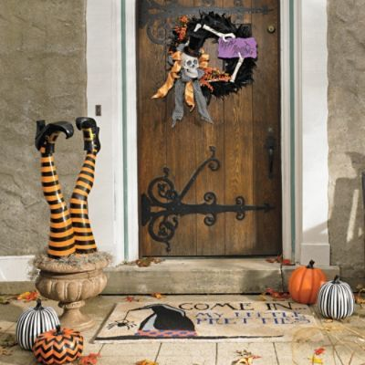 Happy Hauntings Door Scene Kit grandinroad Halloween - halloween decoration themes