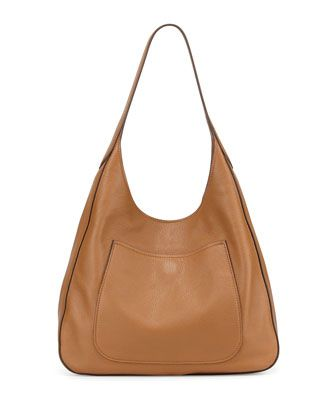 Vitello Daino Medium Pocket Hobo Bag, Tan (Cannella) by Prada at ...