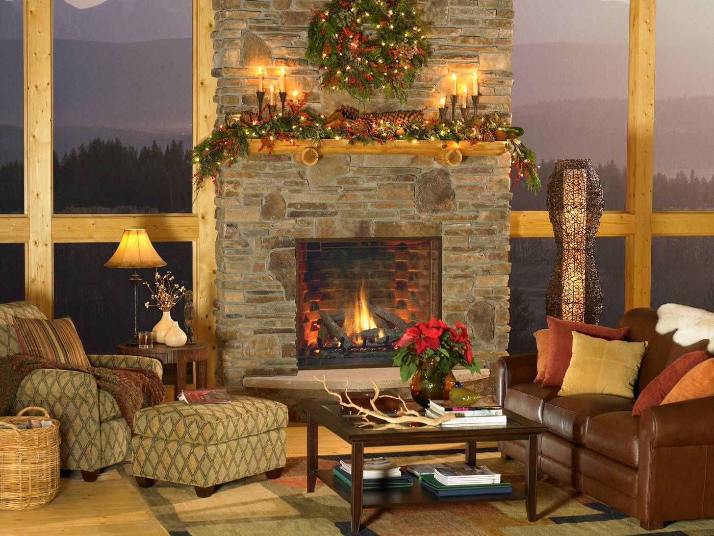 Home Lodge Style Decorating Fireplace Fireplace Stores