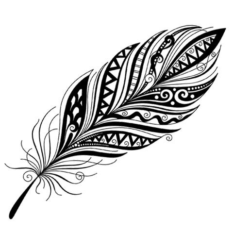 Tribal Feather | Feathers | Pinterest | Tribal feather and ...