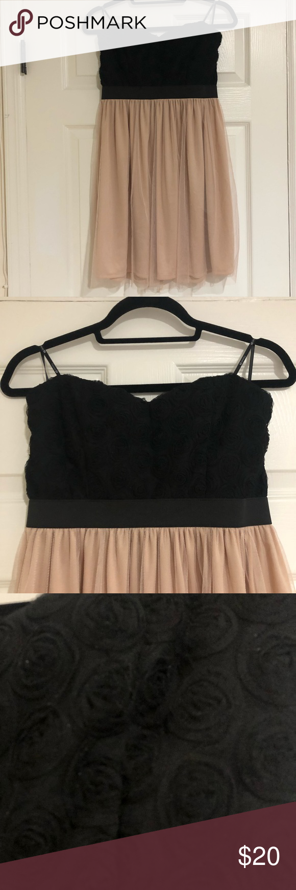 Black And Cream Strapless Dress Strapless Dress Dresses Two Piece Skirt Set [ 1740 x 580 Pixel ]