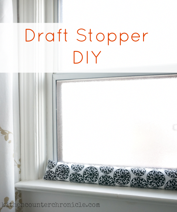 How to Make a Draft Stopper for A Window or Door Draft